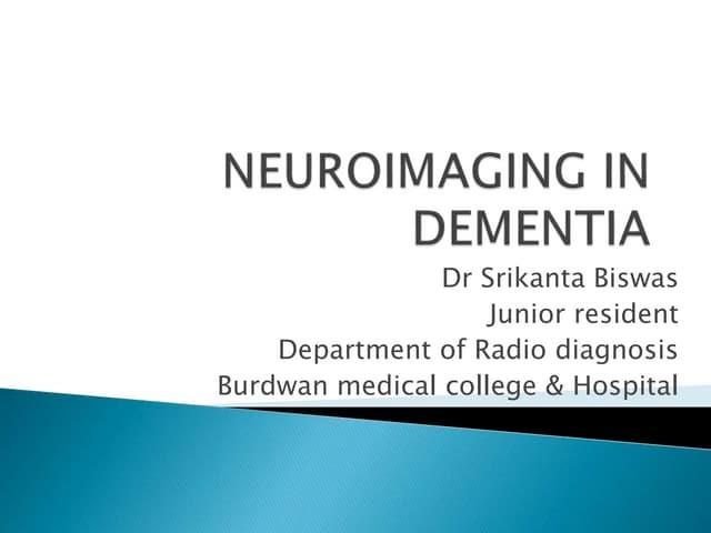 Radiological evaluation of Dementia