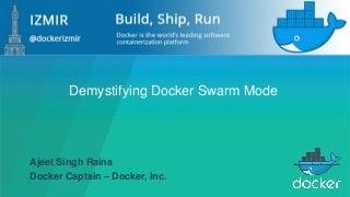 Deep Dive into Docker Swarm Mode
