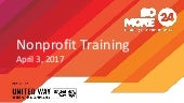 Do More 24 Nonprofit Training