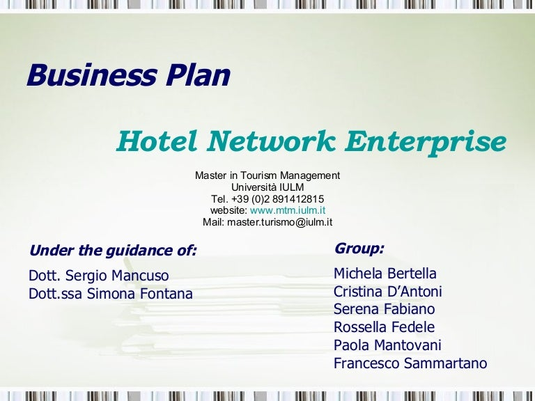 "Business Plan ""New Hotel Enterprise"""