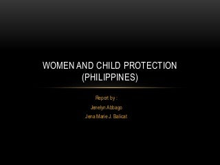 woman and child protection in the Philippines