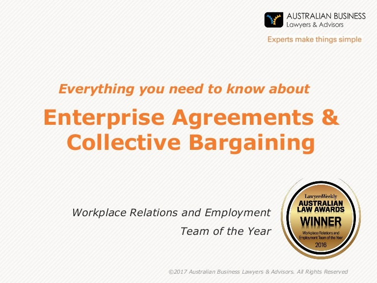Why Have Enterprise Agreements