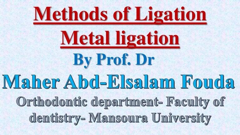 Methods of ligation