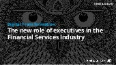 The New Role of Executives in the Financial Services Industry