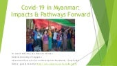 Covid-19 in Myanmar: Impacts & Pathways Forward