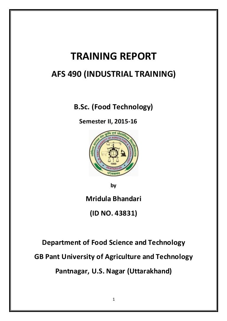 Report on industrial training at Parle Biscuits – Training Report