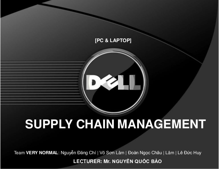 dell supply chain management case study ppt