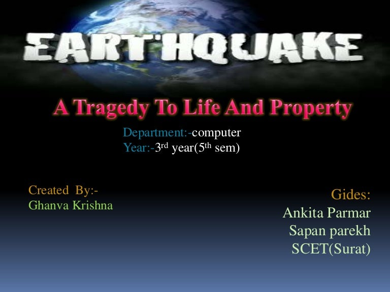 Earthquake ppt toneelgroepblik Choice Image
