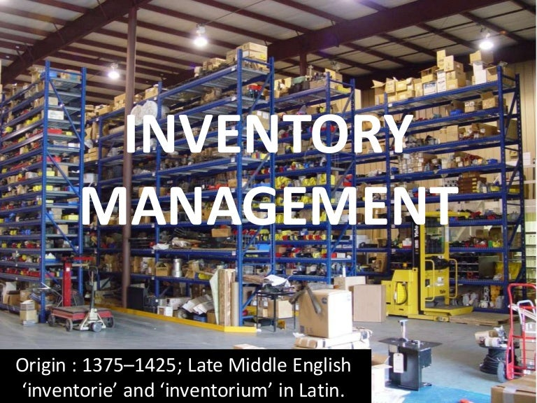 Inventory Management A Ppt For Pgdm Mba