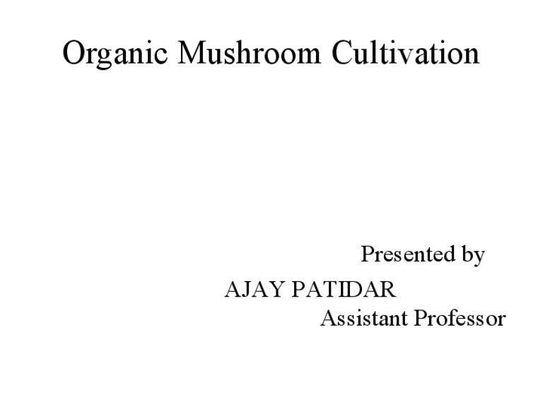 Final ppt on mushroom