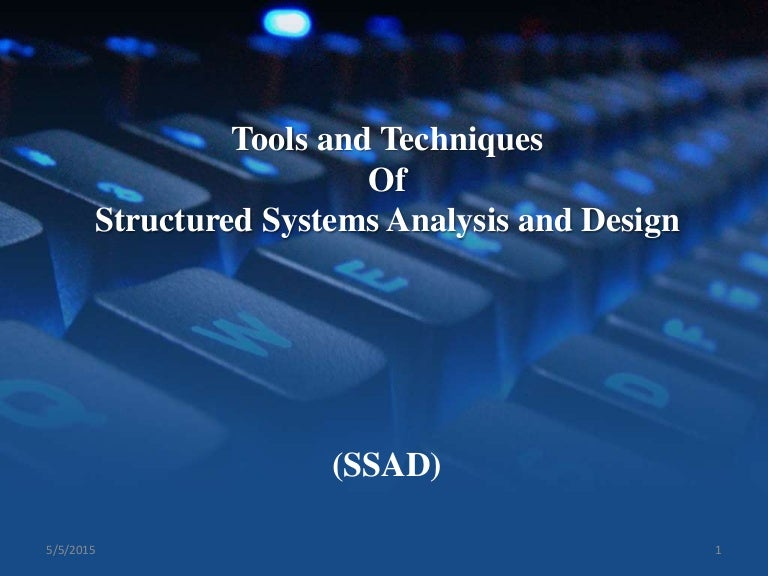 Final Presentation Of Tools And Techniques Of Structure Analysis Man