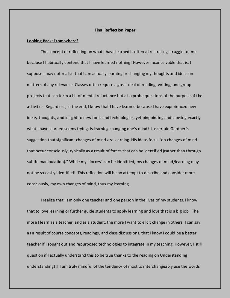 reflection paper about team building in school