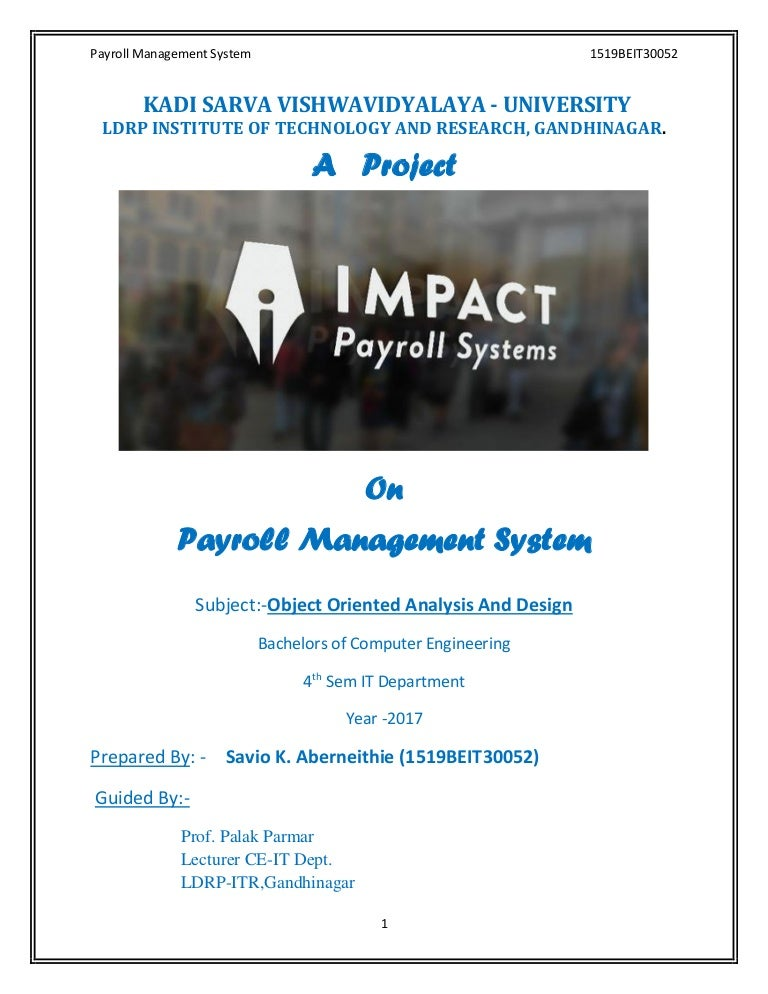 Payroll Management System Complete Report