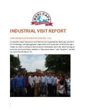 BBA industrial visit project index