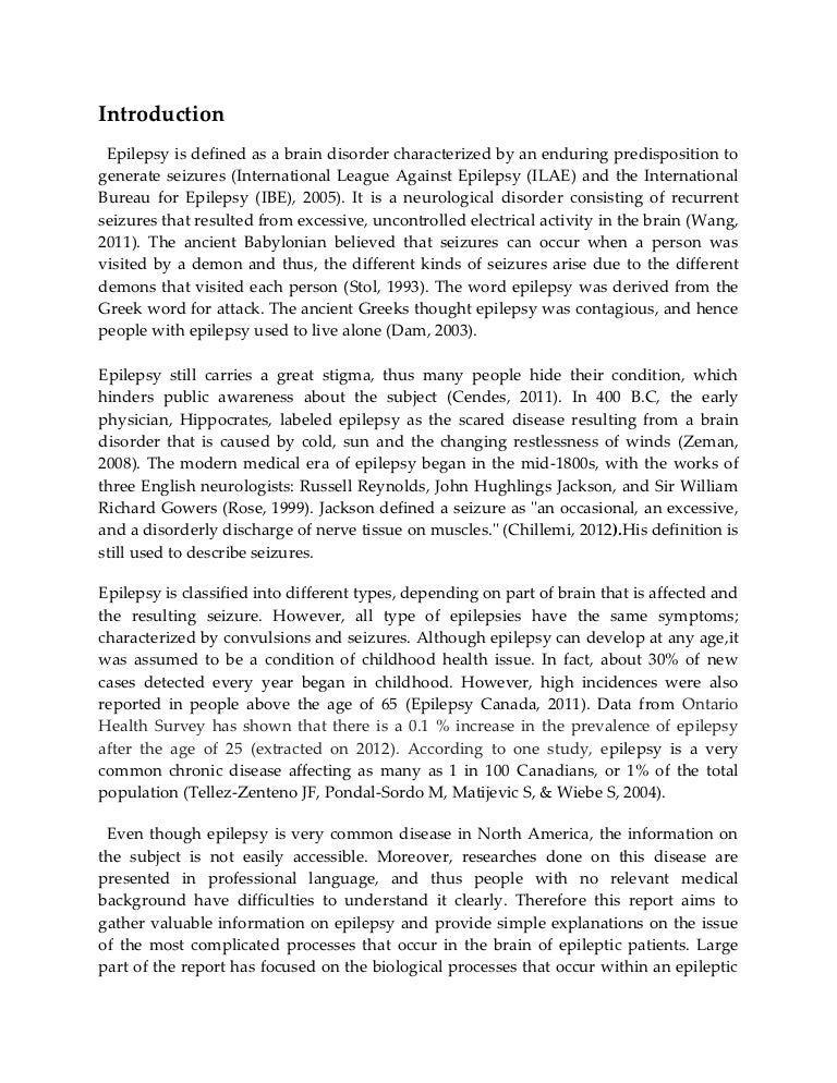 epilepsy dissertation topics