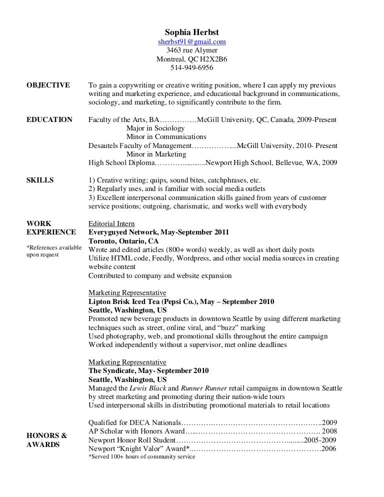 Cover Letter Caps Mcgill How To Write A Resume Mcgill Cv And Cover Letter  Career Planning