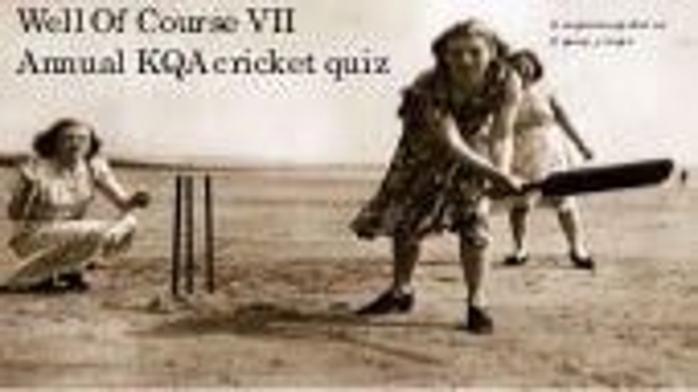 KQA Cricket Quiz 2017 Finals