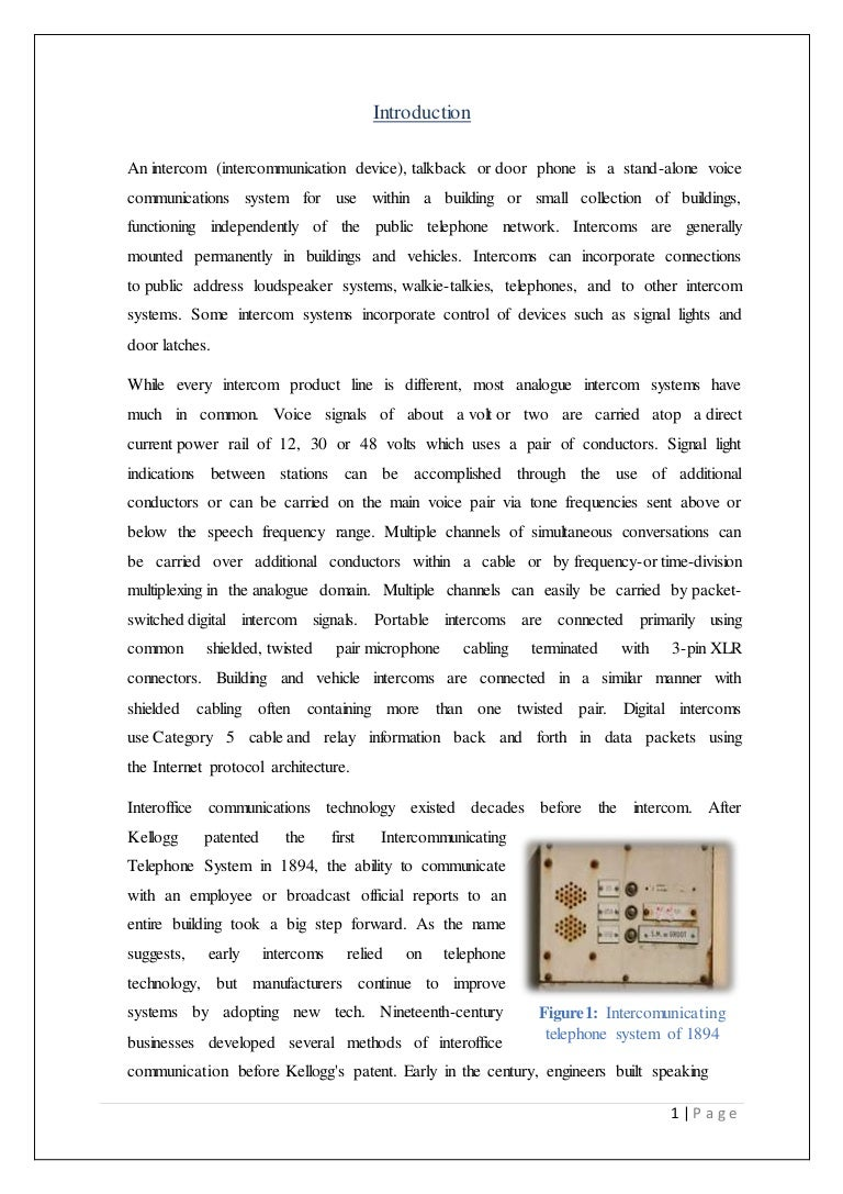 Technical Report On Transistor Based Intercom System Re A Hybrid 2 To 4 Wire Telephone Circuit