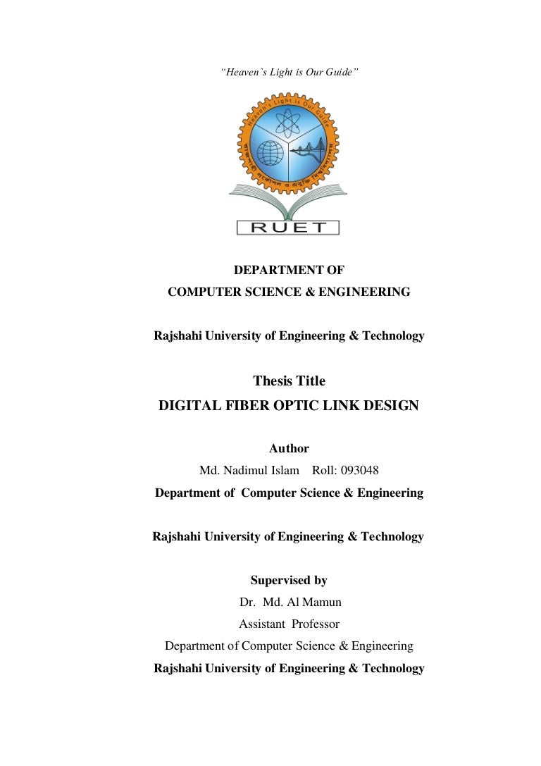 Final Thesis Paper Digital Optical Fiber Link Design Optics Diagram Communication