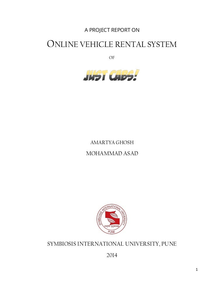 JUSTCABS - an Online Cab Reservation System (Final Year Project)