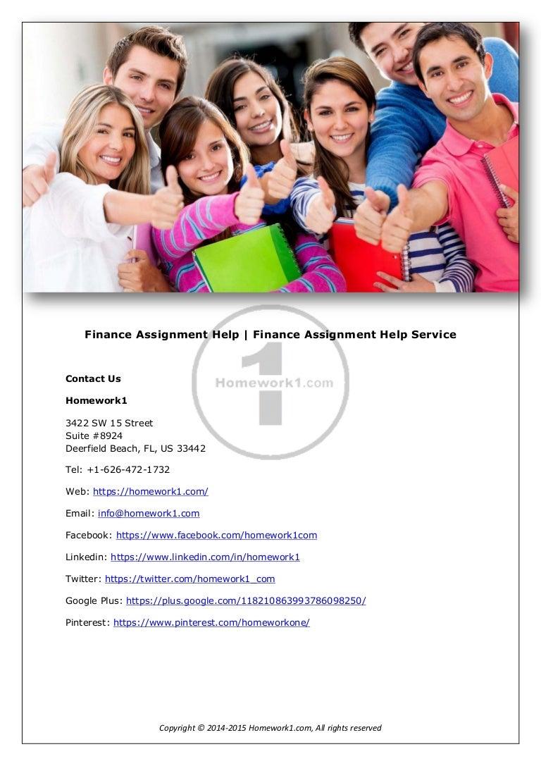 Finance assignment help canada