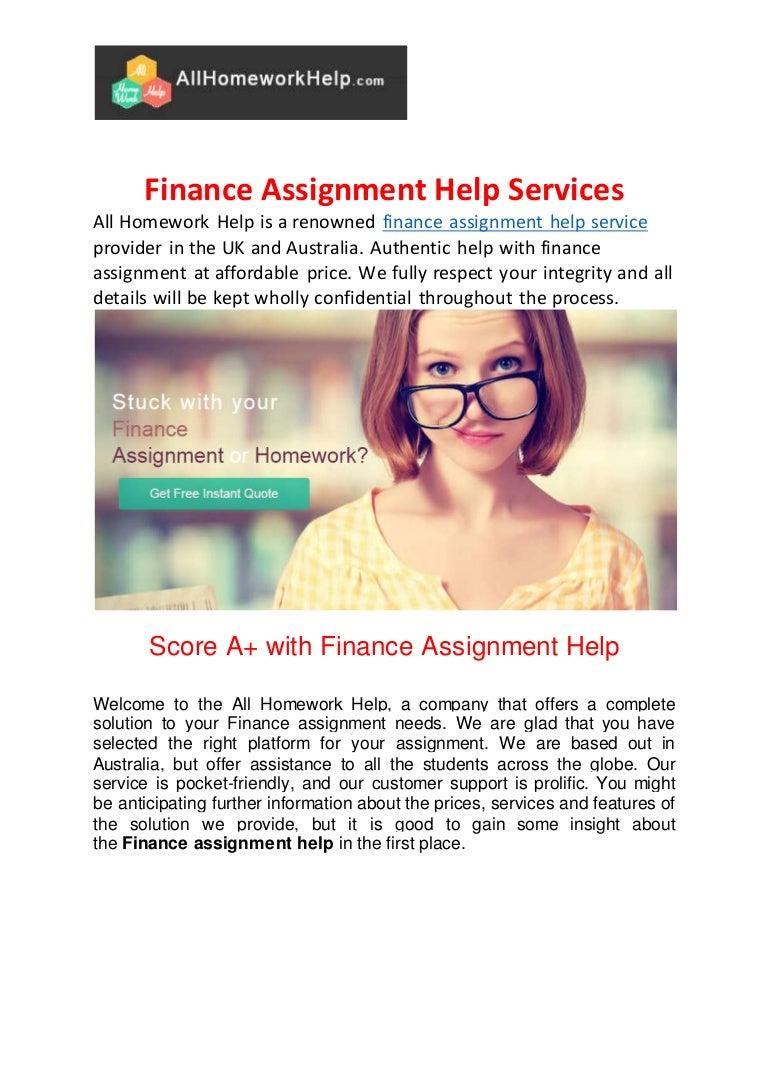 Online Finance Tutors | Online Finance Homework Help - blogger.com