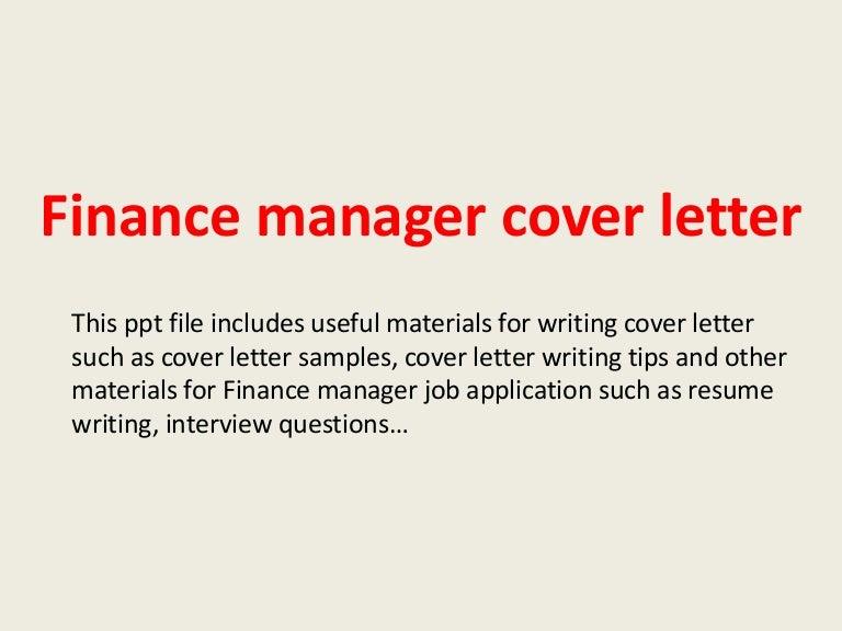 Finance Manager Resume Cover Letter from cdn.slidesharecdn.com