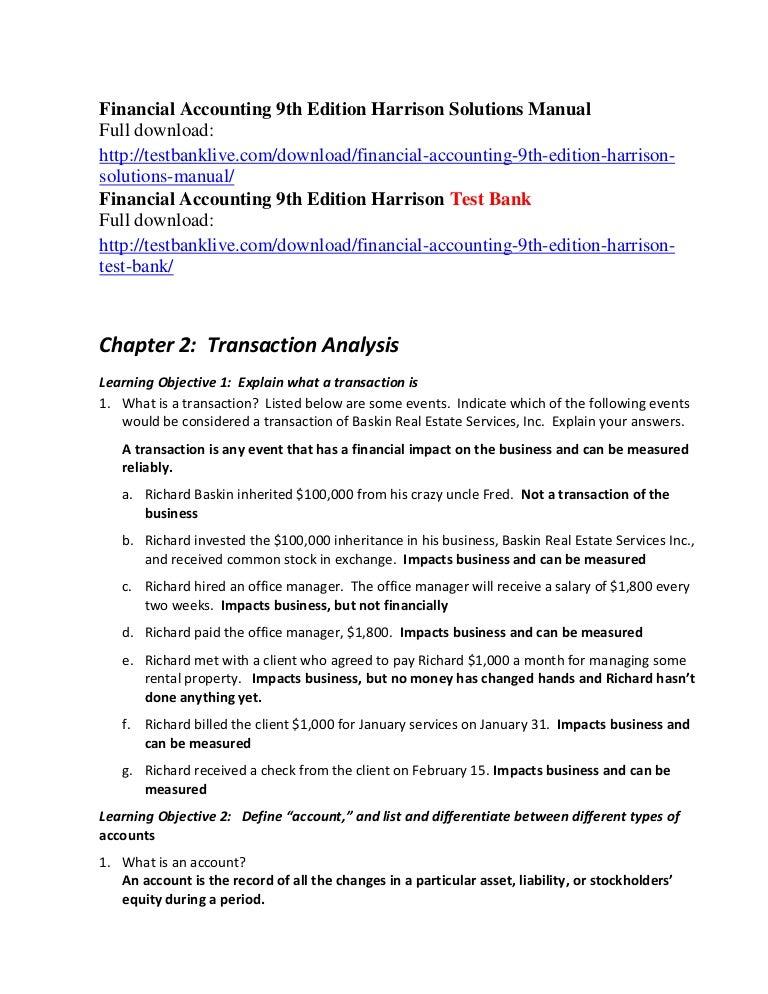 Financial Accounting Harrison Pdf