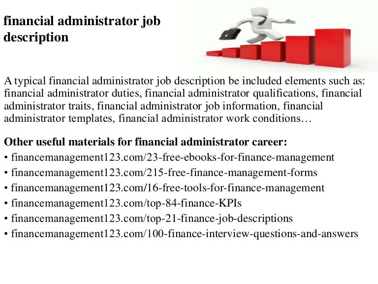 financial administrator job description - Job Description For Benefits Administrator