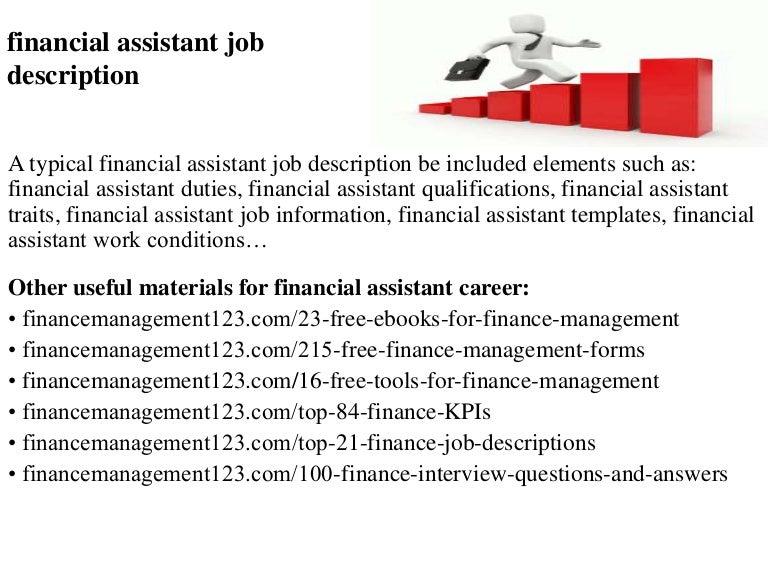 Exceptional SlideShare  Financial Assistant Job Description
