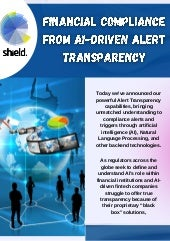 Shield - Financial Compliance from AI-Driven Alert Transparency