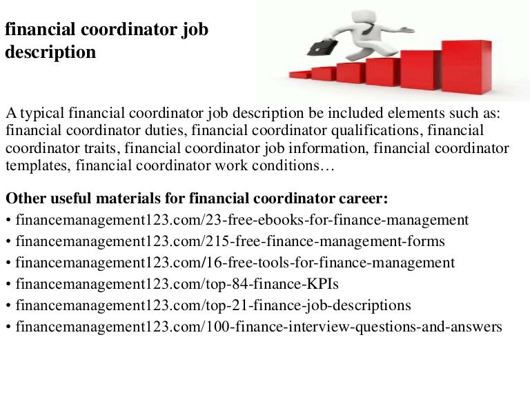 Financial coordinator job description – Material Planner Job Description