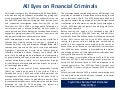 All Eyes on Financial Criminals
