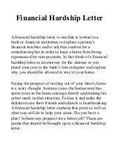 hardship letter sample template