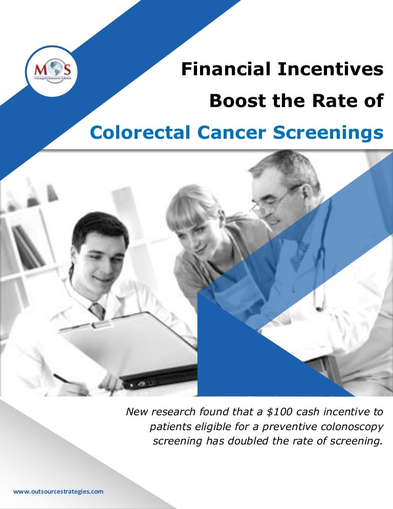Financial Incentives Boost The Rate Of Colorectal Cancer Screenings