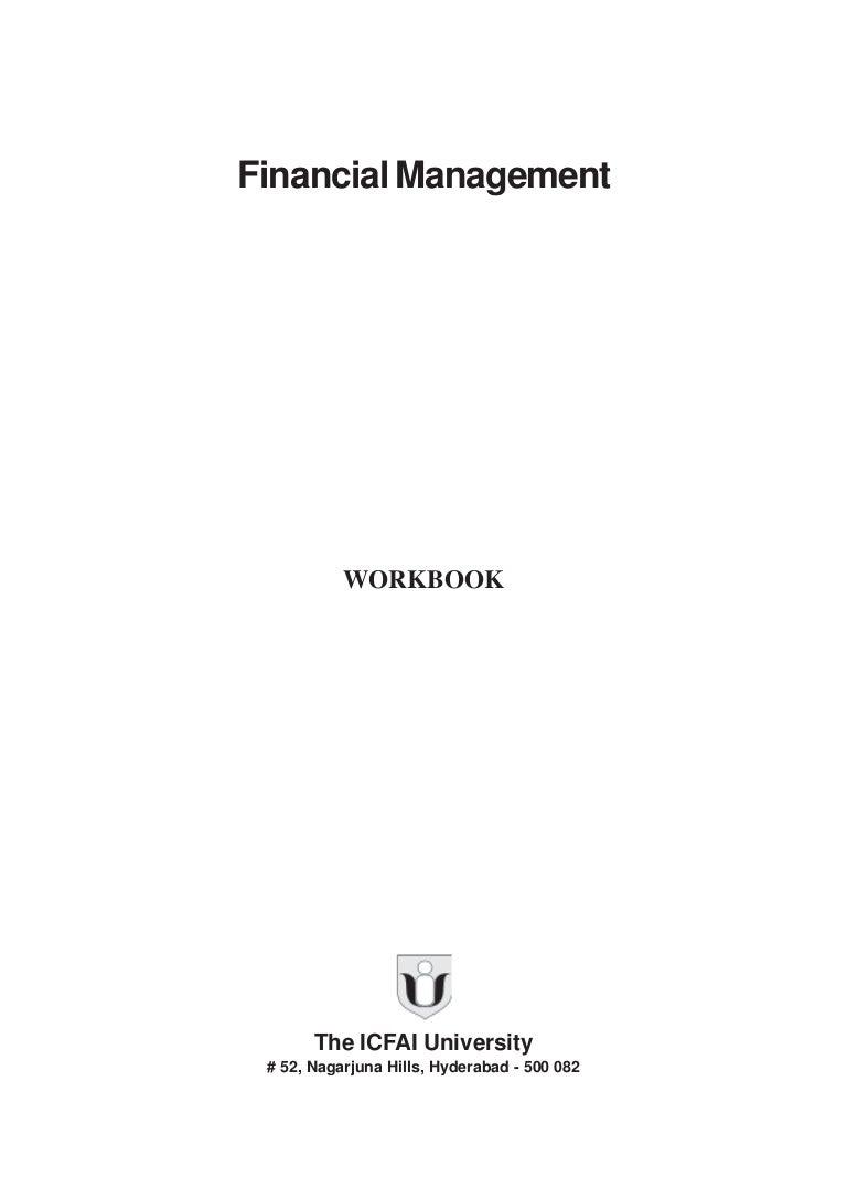 Financial management work book