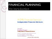 Financial Planning An Introduction222