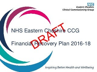 Draft Financial recovery plan for NHS Eastern Cheshire CCG