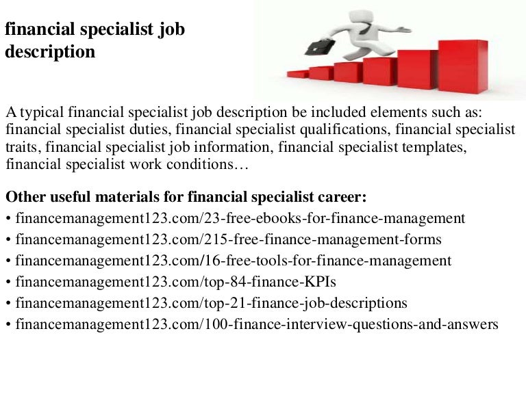Financial Specialist Job Description