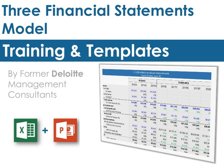 financial statement model template