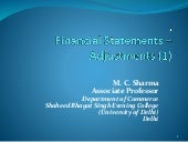 Financial statements of sole trader with adjustments 1