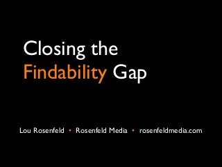 Closing the Findability Gap: 8 better practices from information architecture