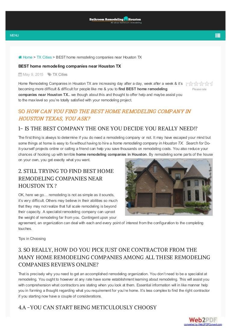 Find best bathroom remodeling companies in houston tx - Top bathroom remodeling companies ...