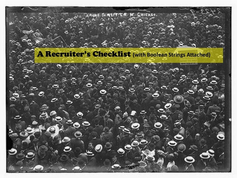 A Recruiters Checklist Strings Attached