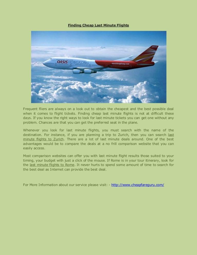 Cheap Last Minute Flights >> Finding Cheap Last Minute Flights
