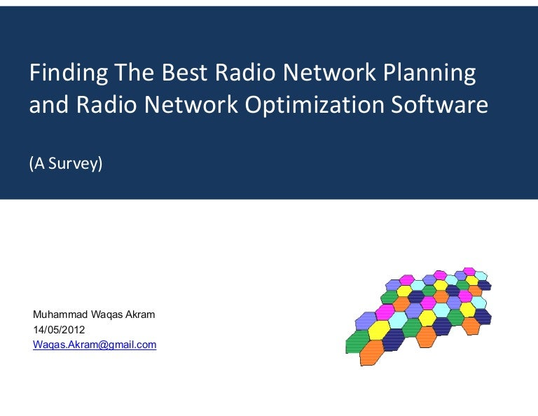 Finding the best Radio Network Planning and Radio Network