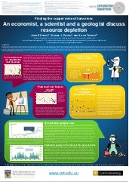 An economist, a scientist and a geologist discuss resource depletion - Dec 2013 - Sykes et al - University of Western Australia / Curtin University