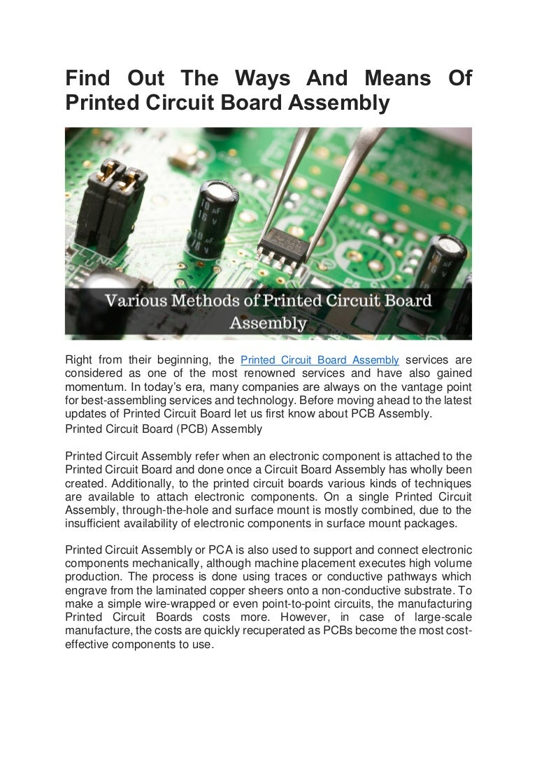 Find Out The Ways And Means Of Printed Circuit Board Assembly Boards Pcb Findoutthewaysandmeansofprintedcircuitboardassembly 180717073811 Thumbnail 4cb1531813135