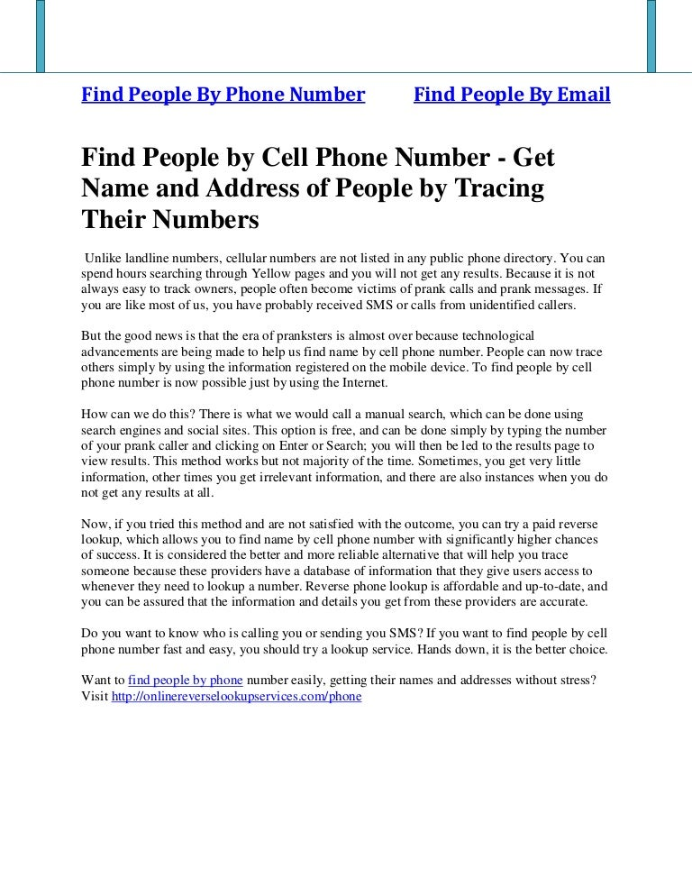 by cell find number people phone