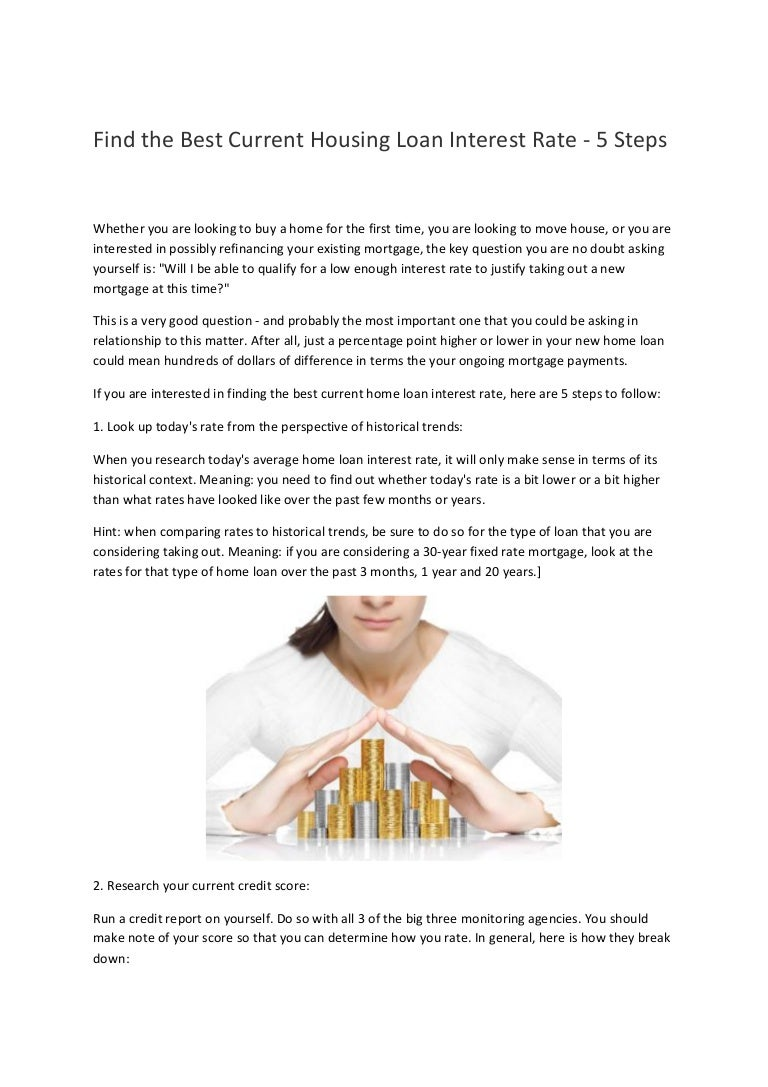 find the best current housing loan interest rate